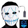 Frightening Wire Halloween LED Light Up Mask for Festival Parties - BLUE