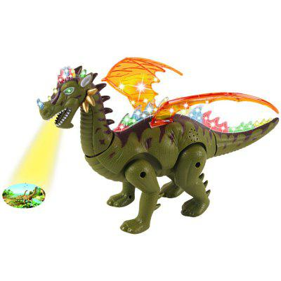 Kids Lighting Walking Projection Electric Dinosaur Toy