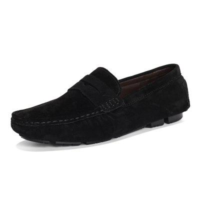 Leisure Soft Slip-on Leather Flat Shoes