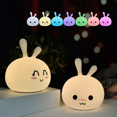 Colorful Silicone Rabbit LED Rechargeable Light