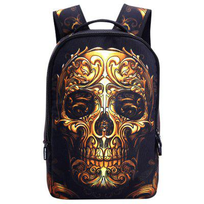 Creative Skull Pattern Polyester Backpack