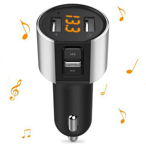 Alfawise Dual USB Ports Bluetooth 4.2 Car Charger FM Transmitter - Black