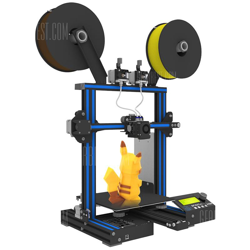Geeetech A10M Mix-farve 3D-printer - BLUE EYES EU PLUG