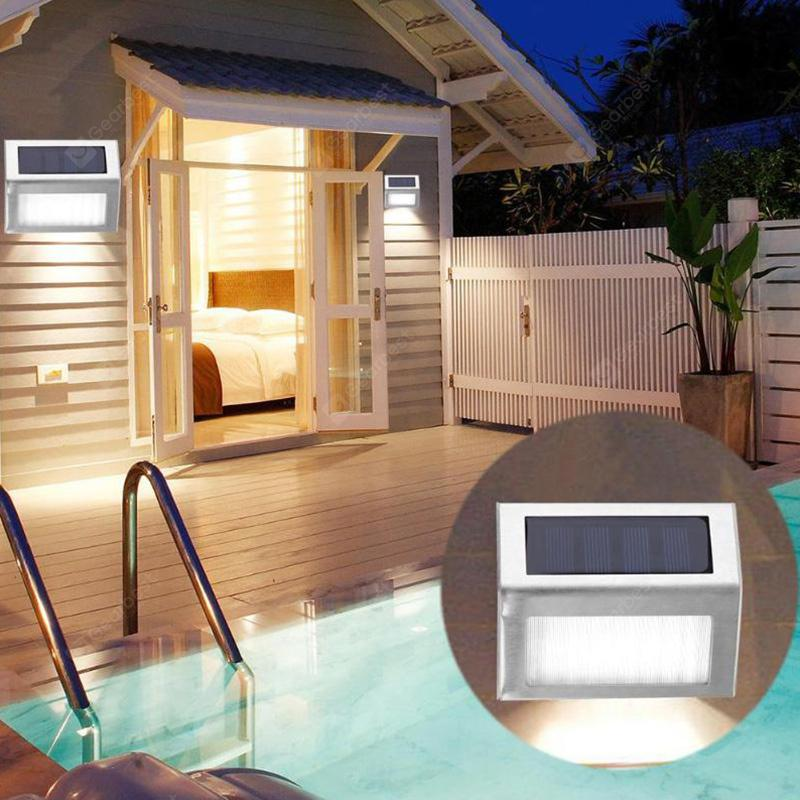 3 LED Solar Stair Light Stainless Steel Pathway Lamp