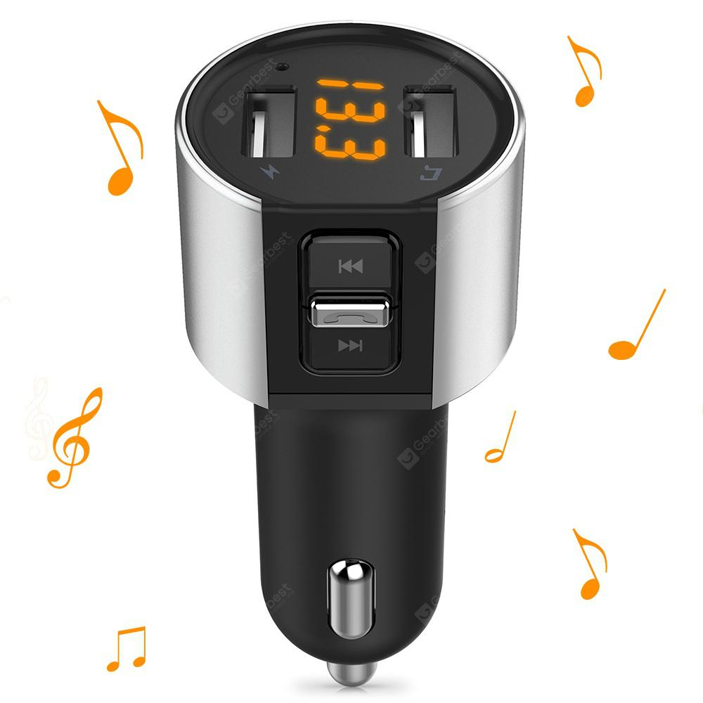 Alfawise Dual USB Ports Car Charger with Bluetooth Music Functions