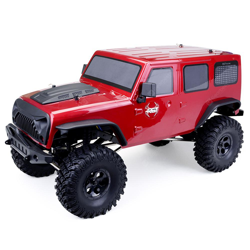 EX86100 Waterproof 1/10 2.4G 4WD Racing RC Car Big Foot Off-road Truck Toy - RED