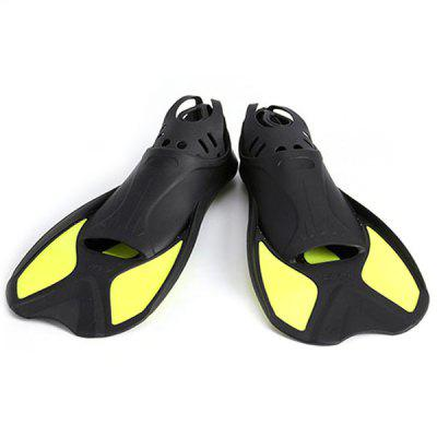 Pair of S Size Short Swimming Fins for Diving Training