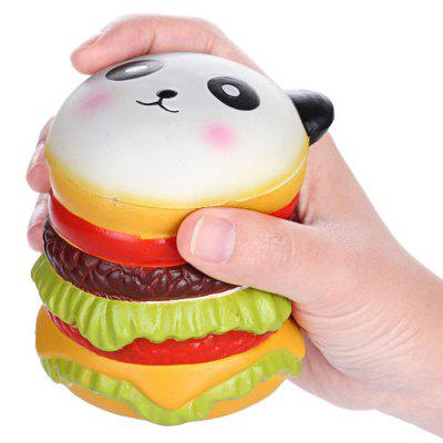 VLAMPO Panda Burger PU Squishy Stress Toy