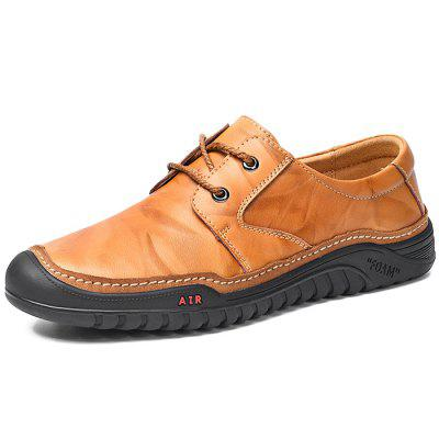 Men Leisure Lace-up Leather Casual Shoes