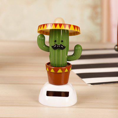Cactus Solar Powered Shaking Head Car Ornament