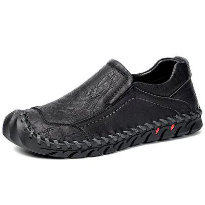 Slip-on casual in pelle da uomo resistenti alla moda