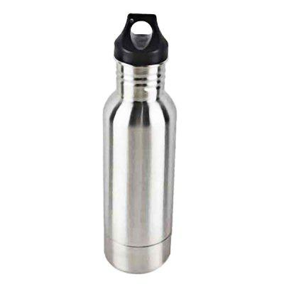 Stainless Steel Sports Bottle 600ml Double Section Beer Mug