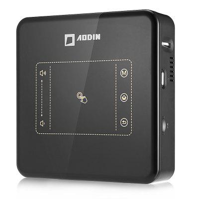 AODIN D013 Smart Portable Projector 150ANSI Lumens 500:1 BLACK