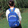 Fashion Casual Canvas Printing Backpack - SKY BLUE