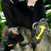 Men Stylish Outdoor Anti-slip Leather Sports Casual Shoes - BLACK