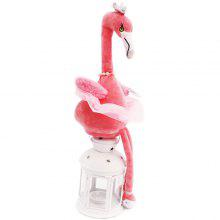 Electric Glowing Flamingo Plush Doll Toy 1pc