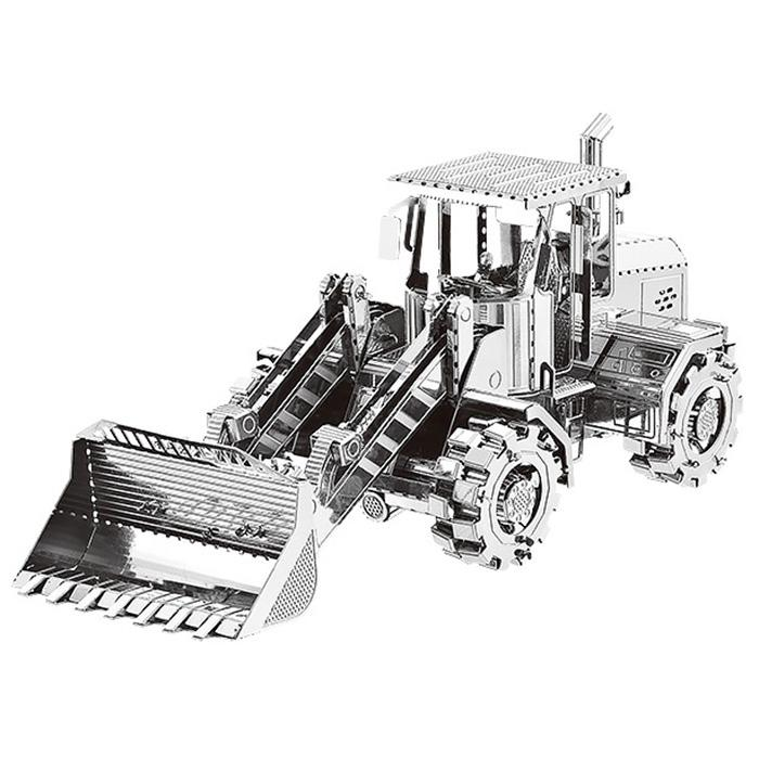 3D Metal Bulldozer Model Fit for Children - SILVER