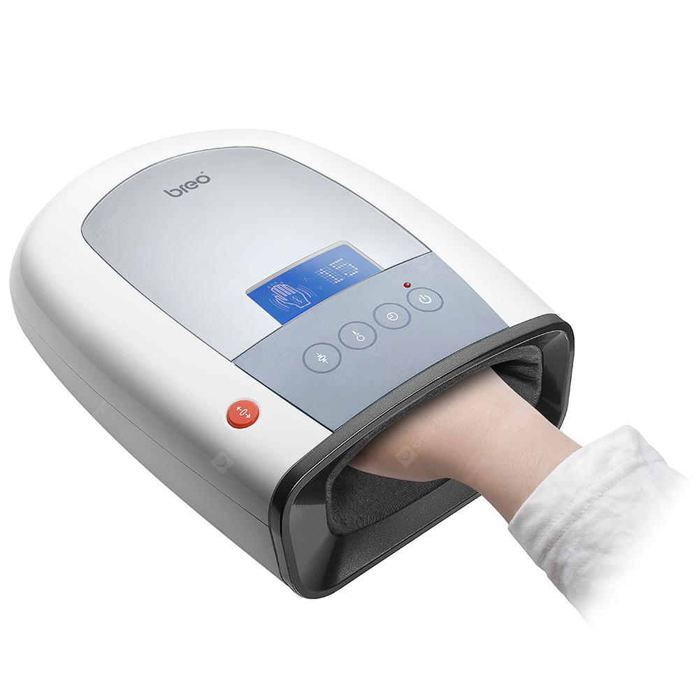 Breo iPalm520 Electric Acupressure Hand Palm Massager - CRYSTAL CREAM