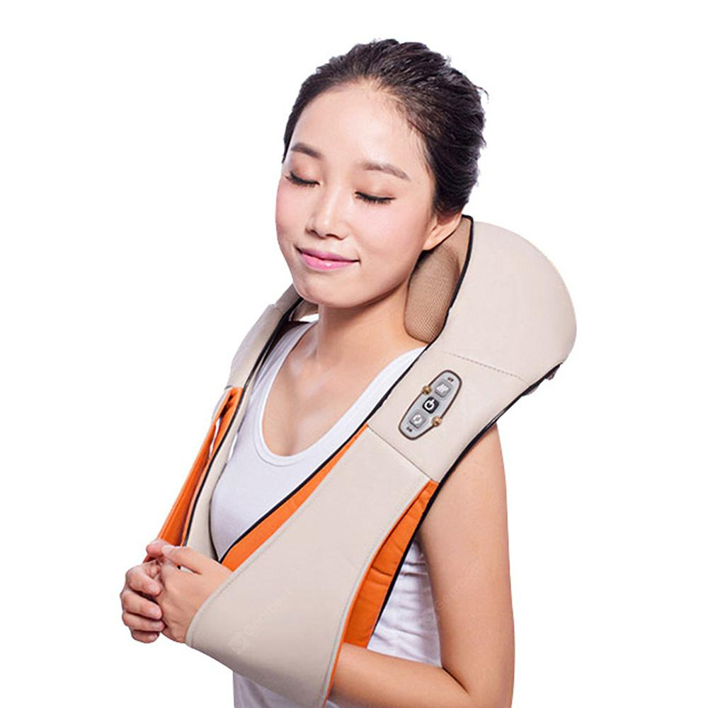 RT - 102 Back Neck Shoulder Electric Massage Sjal - TAN BROWN