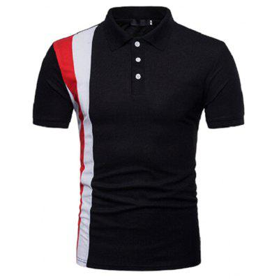 Men Fashionable Turn-down Collar T-shirt