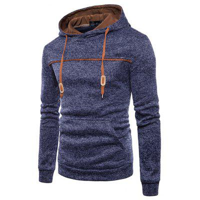 Herren Fashion Spleiß Hood Long Sleeve Hoodie