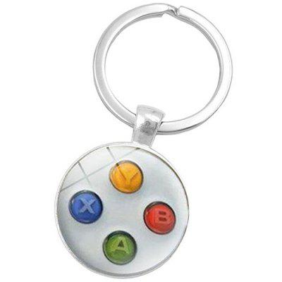 Creative Zinc Alloy Game Pad Key Chain - WHITE