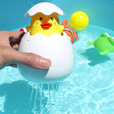 Yellow Duck Broken Egg Pulling Water Shower Floating Toy