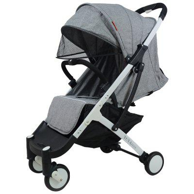 Gearbest YOYAplus A09 Foldable Baby Stroller - GRAY CLOUD for 0 - 36 Month Kid