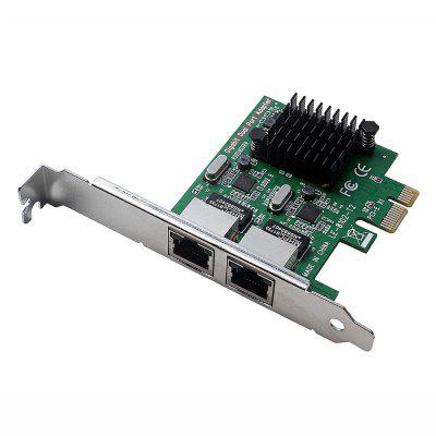 Dual Ports Gigabit Ethernet RTL8111G Network Controller Card LAN Adapter