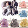 Multifunctional Creative Elephant Pillow Plush Toy for Playing - GRAY