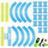 Speed ​​Pipes Auto Toy Pack Race Track Afstandsbediening Flitslicht RC Tube Racing - GROEN