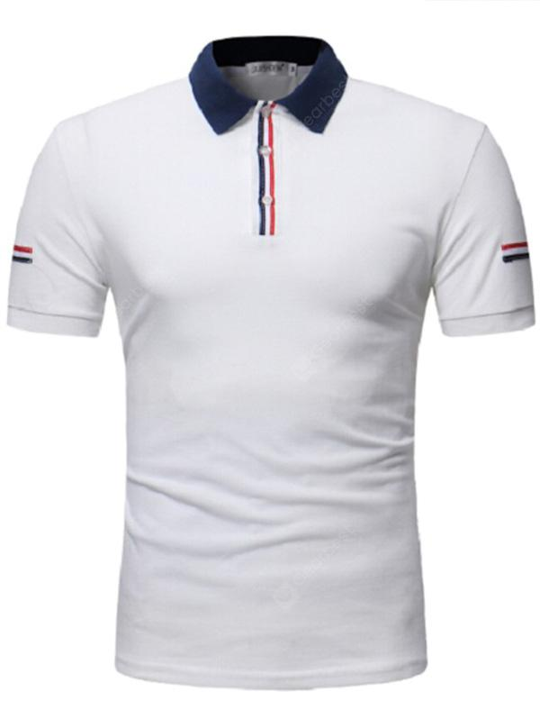 Leisure Large Short Sleeve Polo Shirt for Men