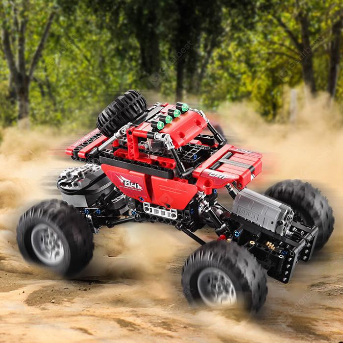 CaDA Assembling Building Blocks Off-road Car Toy - LOVE RED from Gearbest Image