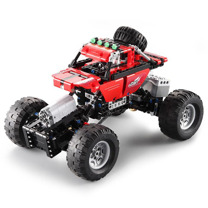 CaDA Montaža građevinskih blokova Off-road Toy igračaka - LOVE RED