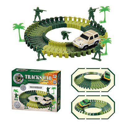 Kinderen gemonteerd Military Track Model Car Set Toy