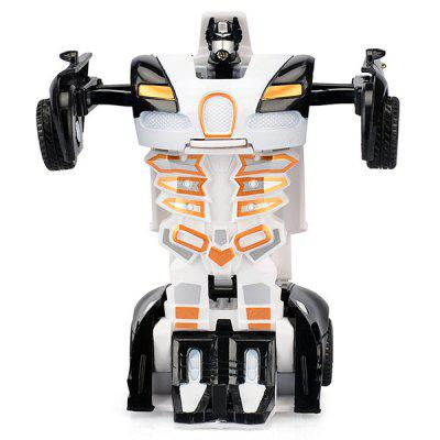 Mini Transformable Police Car Robot Toy