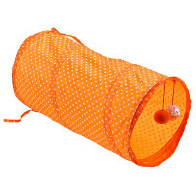 Dot Portable Foldable Cat Tunnel Tent with Playing Ball