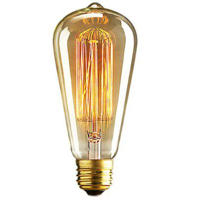 ST64 40W E27 Vintage Tungsten Dimmable Edison Bulb