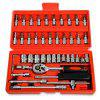 Spanner Socket Car Repair Tool Ratchet Wrench Set - RED
