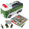 E5018 Children Acousto-optic Deformation Toy Car - JUNGLE GREEN