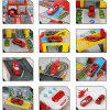 E5018 Children Acousto-optic Deformation Toy Car - RED