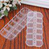 Multipurpose Transparent Plastic Case With Small Compatments for Storage - TRANSPARENT