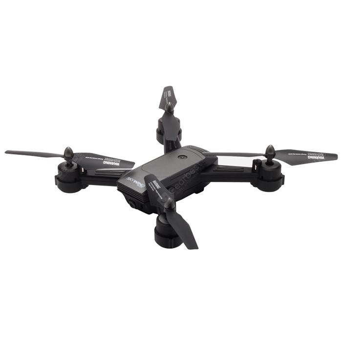 LH - X34F WiFi PFV RC Drone Dual HD Camera Optical Flow Altitude Hold - GRAY