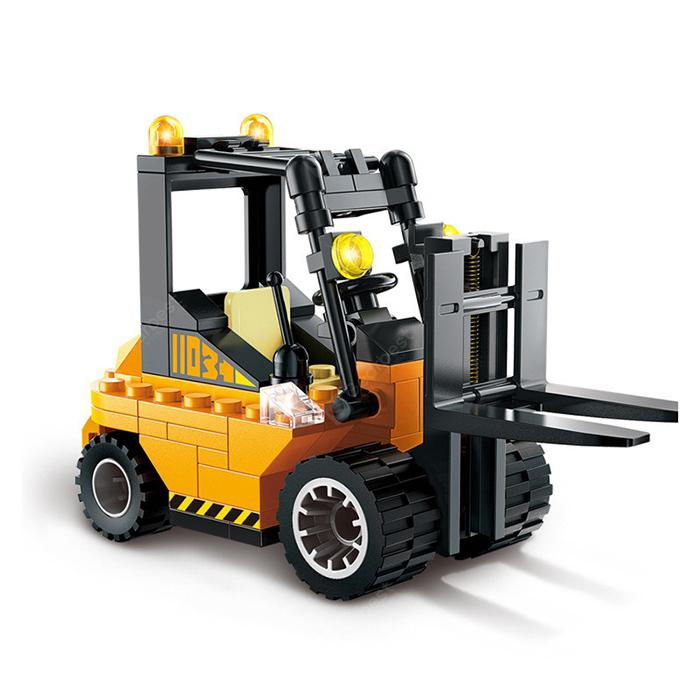 Mini Forklift Building Blocks Toy - Bee Yellow