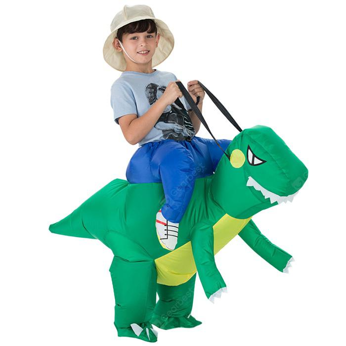 Kid Inflatable Dinosaur Costume for Halloween Cosplay - KELLY GREEN