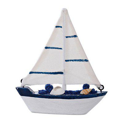 Wooden Sailing Boat Model for Decoration