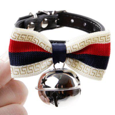 PU Bowknot Pet Collar for Cats and Dogs