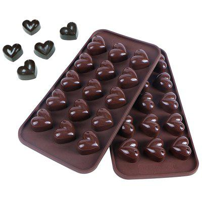 Soft Heart Shaped Silicone Mould for Ice Cake Chocolate