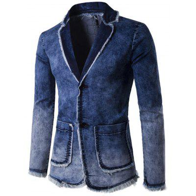 Fashionable Men Washed Denim Jacket