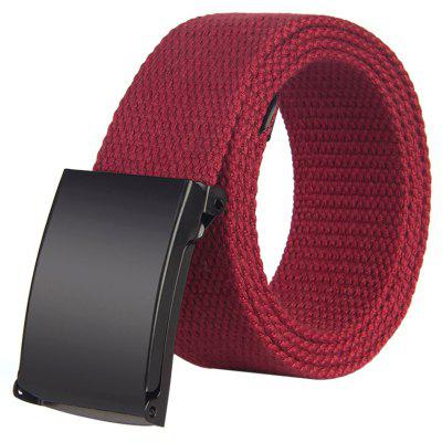 Unisex Fashion Canvas Belt with Smoothing Buckle